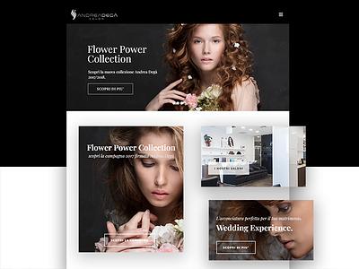 Hair Saloon website webpage webdesign web ux ui page landing interface design