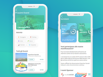 Sport Association APP ( info and events) webdesign ux ui webapp android ios app uidesign