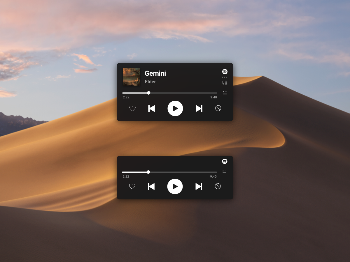 Spotify Mini player concept player music spotify ui user interface design uidesign app adobexd