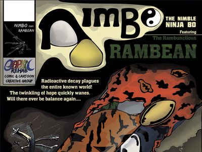 First edition of Nimbo featuring RamBean! graphic novels cartoon story comic artist artist illustrator cover design comics