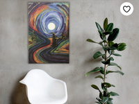 Trippy Landscape Print etsy artist etsy art canvas print trippy art abstract art art print artist