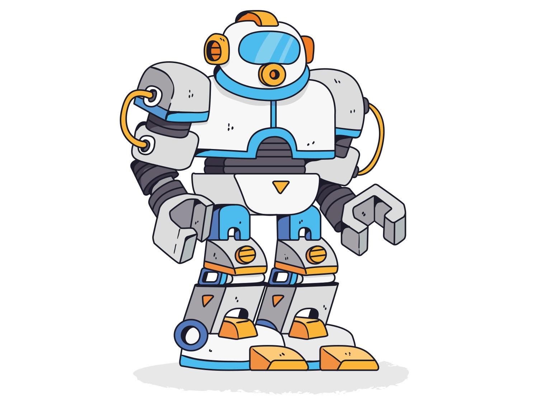 Big robot illustrator vector drawing robot illustration keuj