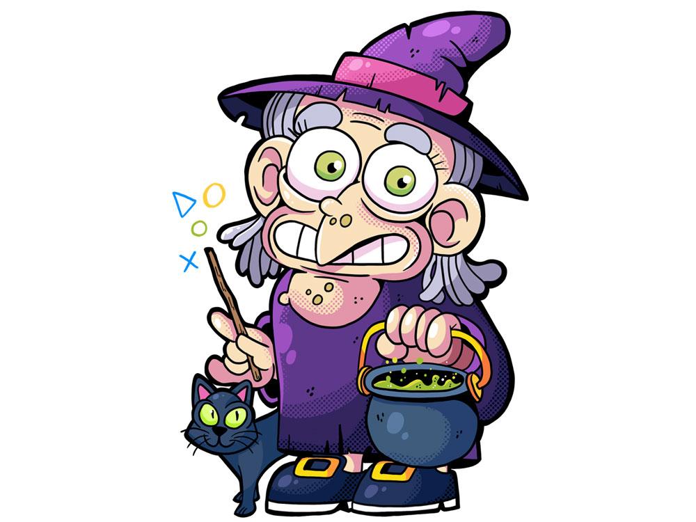 Monstrokeuj - Witch illustrator cartoon photoshop adobephotoshop drawing characterdesign character witch monstrokeuj illustration keuj