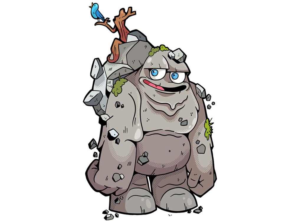 Monstrokeuj - Golem characterdesign character photoshop adobe photoshop illustration golem monstrer monstrokeuj keuj