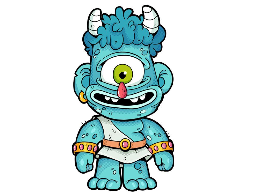 Monstrokeuj - Cyclops adobephotoshop photoshop characterdesign character illustration cyclops monster monstrokeuj keuj