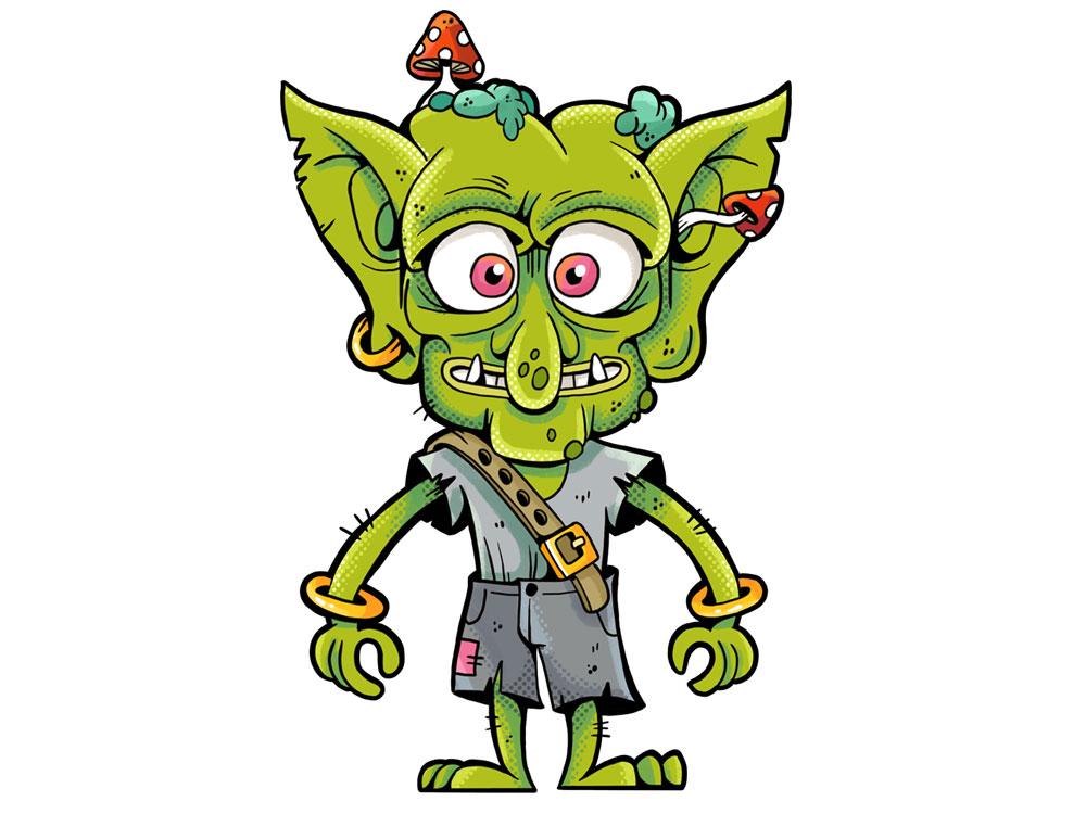 Monstrokeuj - Goblin goblin drawing monster monstrokeuj photoshop characterdesign character illustration keuj