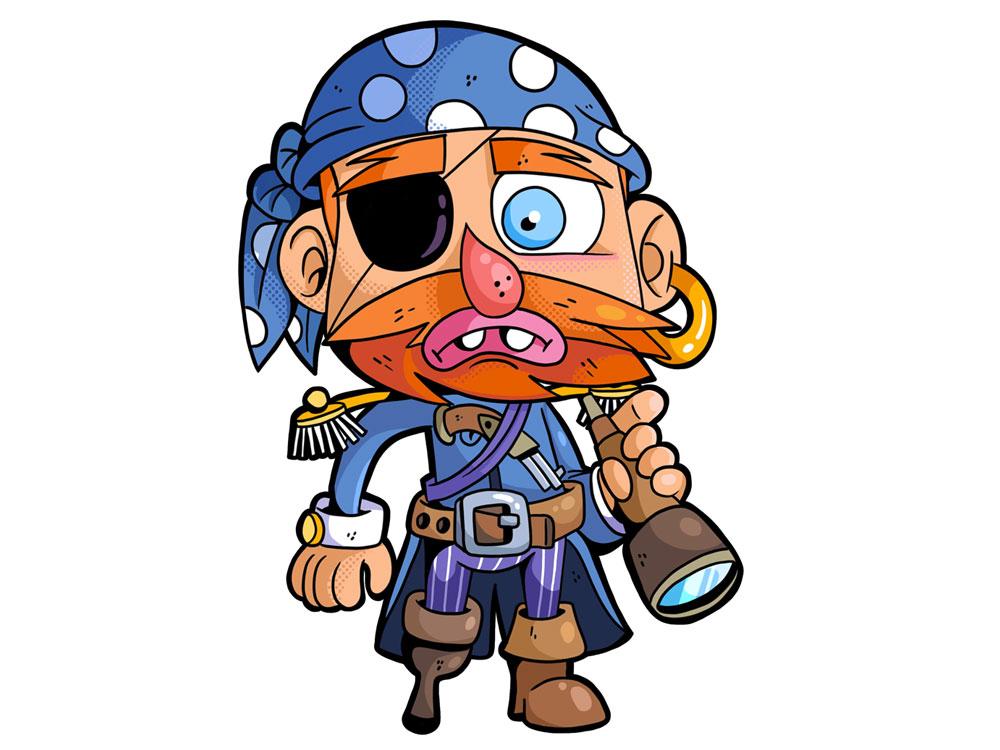 Monstrokeuj - Pirate pirate adobephotoshop freelance drawing monster monstrokeuj photoshop characterdesign character illustration keuj