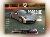Porsche 911 Carrera 4S creative interface website design landing page design landingpage porsche car