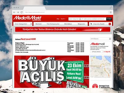 Media Markt Landing Page mediamarkt landing page design development css ui gui