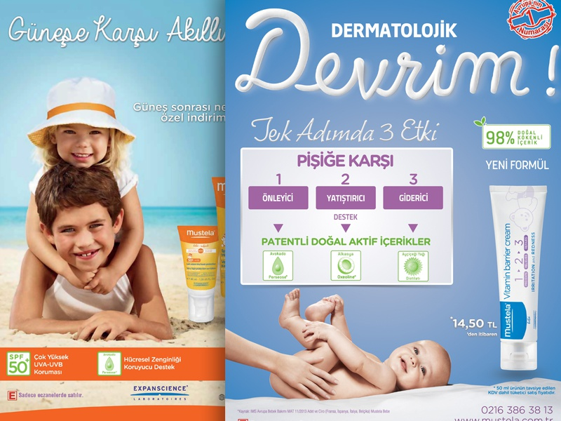 Mustela Newspaper Ads