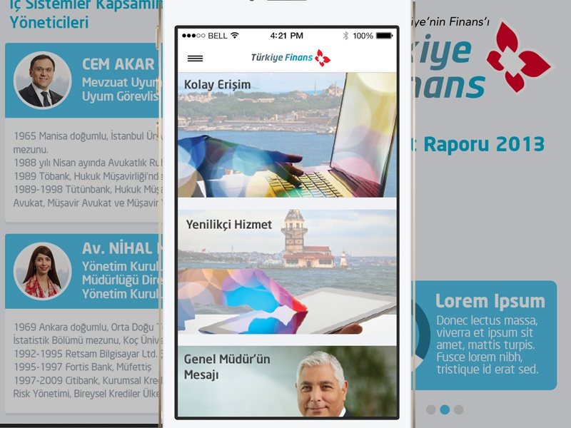 Turkish Finance Bank App UI finance app mobile bank