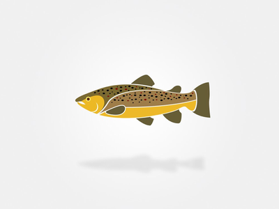 Brown Trout cleandesign animal graphicdesign logodesign logo fish