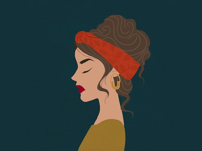 Boho Portrait feminine bohemian portait clean illustration graphicdesign