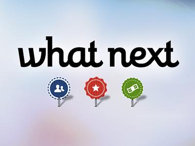 (Beta) Logotype for What Next logotype logo