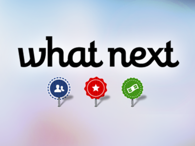 (Beta) Logotype for What Next logotype logo