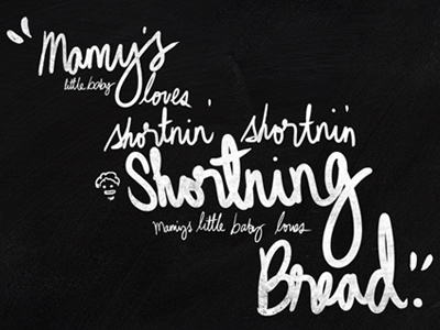 Last song syndrome - Shortning Bread illustration handwriting typography