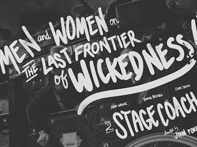 Handwritten Stagecoach 1939 Movie Poster illustration handwriting typography movie poster
