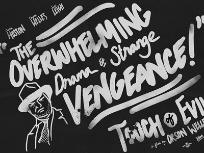 Handwritten - Touch of Evil Movie Poster illustration handwriting typography movie poster