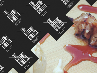 The Hellfire Grill Co.  food startup branding