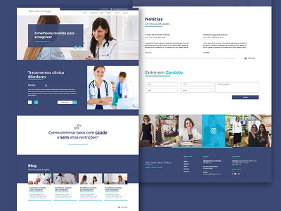 Dra. Ana Luisa  Layout xd ui design layout web