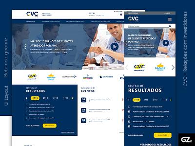 CVC - Relações com Investidors web xd ux uiux ui design layout