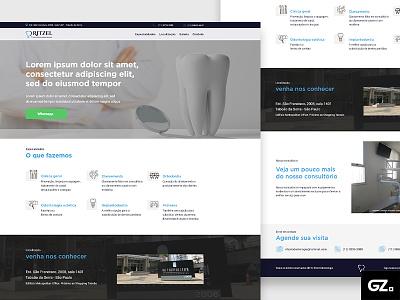 Ritzel Odontologia - Landing Page design art web layout designer photoshop adobexd ui uxui ux design landing page