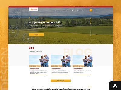 Agropress - Marketing e Comunicação projeto portfolio jobs job digital uxui uxdesign uidesign designer xd uiux photoshop design art adobexd ux ui web layout design