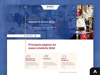 brMalls - Annual report projeto portfolio jobs job digital uxui uxdesign uidesign designer xd uiux photoshop design art adobexd ux web ui layout design