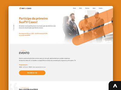 SuaTV Cases landing page projeto portfolio jobs job digital uxui uxdesign uidesign designer xd uiux photoshop design art adobexd ux ui web layout design
