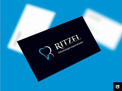 Ritzel Odontologia Especializada odontology logotipo marca typography branding vector logo photoshop design art design