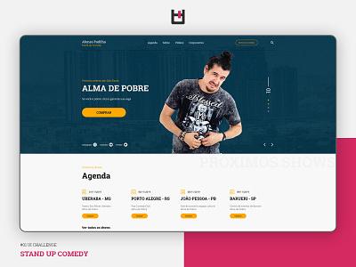 Stand Up Comedy - Afonso Padilha uxdesign designer uiux ux photoshop design art ui web layout design