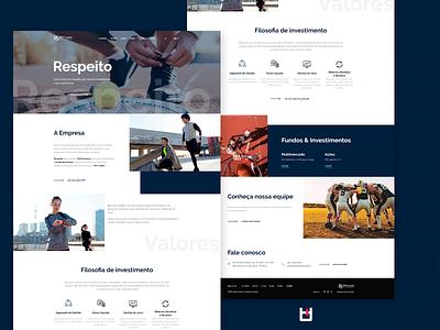 RPS capital - Institucional design art uxui photoshop uidesign designer ux uiux ui layout design