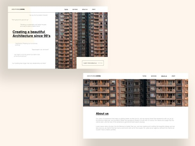 Quirky Architecture Agency Website artwork desktop design website concept website design architecture ui ux