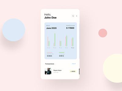 Personal Finance Mobile App UI ; Clean Design mobile app mobile colorful clean design clean ui ios design ui ux flat apps