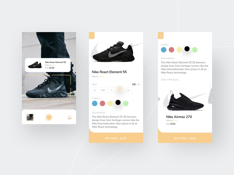 Nike UI Store Concept - AR Scan