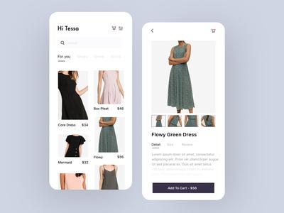 Zalora UI Concept - UI Design Exercises minimalism minimalist fashion design fashion fashion app user interface user experience apps ios ux design ui