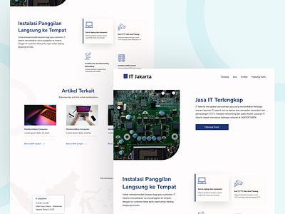 IT Jakarta Landing Page blog ui website design it landing page minimalist minimalism illustration design ux