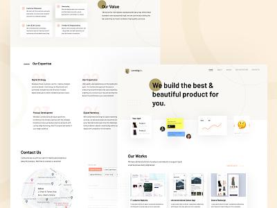 Digital Agency Landing Page Concept landing page digital agency typography website design design ui ux branding user experience minimalist minimalism