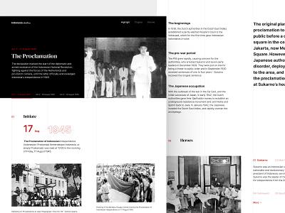 Indonesia Stories - Daily 02 - Landing Page desktop website minimalist agency indonesia landing page minimalism ui ux design