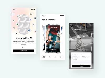 Apollo AI - Daily 07 - Artificial Intelligence Apps mobile product design ios design artificial ai logo illustration apps minimalism ux ui