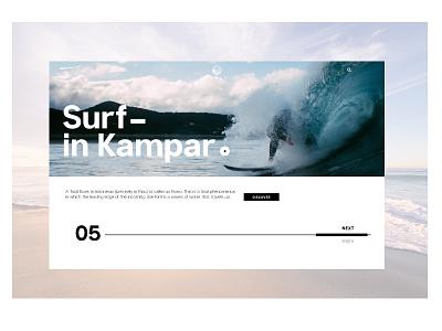 Surf in Kampar website design ocean surf ux ui