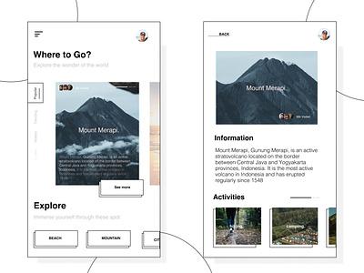 Travel App // Unconventional one. minimalist minimalism apps travel app traveling ux ios design ui