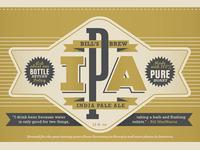 Bills Brew IPA Label