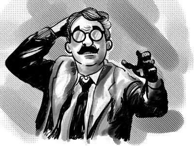 Time Enough At Last vintage twilight zone animation character illustration design
