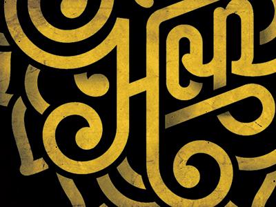 Type Detail design typography gold swirls
