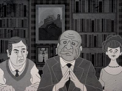 Creepy Masks episode after effects animation illustration design