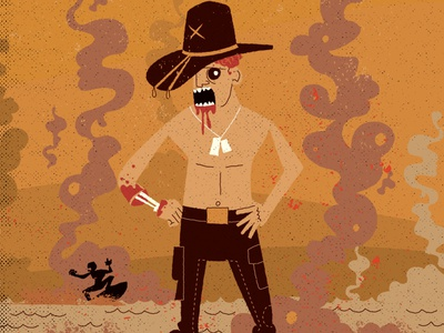 Next Round: Name this film. vintage classic zombie movie character design
