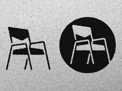 Chair study identity simple logo chair illustrtion design