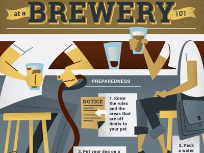 Brewery Etiquette leash infographic brewery dog