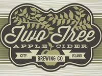 Two Tree Apple Cider Label